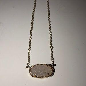 Kendra Scott rose gold necklace druzzy